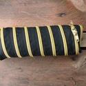 tolltartó  arany cipzárspirál, Táska, Pénztárca, tok, tárca, Tolltartó (kb. 21x7cm)  Ezek a tolltartók egyediek, praktikusak és szépek. Nincs többé unalom ..., Meska
