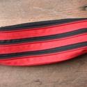 tolltartó  piros-fekete fekvő cipzárspirálból, Táska, Pénztárca, tok, tárca, Tolltartó (kb. 21x7cm)  Ezek a tolltartók egyediek, praktikusak és szépek. Nincs többé unalom ..., Meska