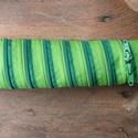 tolltartó  fűzöld-zöld  cipzárspirál, Táska, Pénztárca, tok, tárca, Tolltartó (kb. 21x7cm)  Ezek a tolltartók egyediek, praktikusak és szépek. Nincs többé unalom ..., Meska
