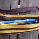 tolltartó  barna cipzárspirál, Táska, Pénztárca, tok, tárca, Tolltartó (kb. 21x7cm)  Ezek a tolltartók egyediek, praktikusak és szépek. Nincs többé unalom ..., Meska