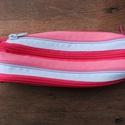 tolltartó  pink-rózsaszín-világoskék cipzárspirálból, Táska, Pénztárca, tok, tárca, Tolltartó (kb. 21x7cm)  Ezek a tolltartók egyediek, praktikusak és szépek. Nincs többé unalom ..., Meska