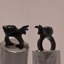 Csigás gyűrű, Ékszer, óra, Gyűrű, Nagyon cuki csigás gyűrű, süthető gyurmából., Meska