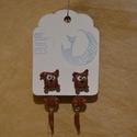 Kutyusos fülbevaló, Ékszer, Fülbevaló, Süthető gyurmából készült nagyon cuki kutyusos fülbevaló.  Teljes hossz kb. 1,5*4,5 cm.  , Meska