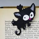 Cicás könyvjelző, Naptár, képeslap, album, Könyvjelző, Különleges könyvjelző,fekete cica mintával.  Ajándéknak is tökéletes!  A könyvjelző süth..., Meska