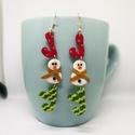 Joy, hóember fülbevaló, Ékszer, Fülbevaló, Cuki karácsonyi fülbevaló JOY felirattal, hóemberrel. Tökéletes karácsonyi viselet, de ajánd..., Meska