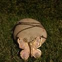 Pillangós nyaklánc, Ékszer, Nyaklánc, Nagyon szép, különleges pillangó nyaklánc süthető gíurmából., Meska
