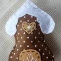 Mézeskalács házikó (gesztenye), Dekoráció, Ünnepi dekoráció, Karácsonyi, adventi apróságok, Karácsonyi dekoráció, Karácsonyi dekoráláshoz, ajándékdíszítéshez ajánlom, ezt a kézzel készült gesztenyeszín..., Meska