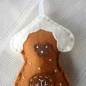 Mézeskalács házikó (mézeskalács-sötétbarna-tört fehér), Dekoráció, Ünnepi dekoráció, Karácsonyi, adventi apróságok, Karácsonyi dekoráció, Karácsonyi dekoráláshoz, ajándékdíszítéshez ajánlom, ezt a kézzel készült mézeskalács ..., Meska