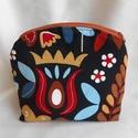 Őszies színvilágú tulipán mintás neszesszer, Őszi színek kedvelőinek ajánlom ezt a színes ...
