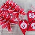 Skandináv stílusú karácsonyi dekorcsomag, Dekoráció, Karácsonyi, adventi apróságok, Karácsonyfadísz, Karácsonyi dekoráció, Skandináv stílus kedvelőinek ajánlom ezt a dekorációs csomagot, mely 10 darab piros alapon feh..., Meska