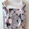 Rózsaszín-szürke-drapp rombusz mintás táska/szatyor , Táska, Divat & Szépség, Táska, Válltáska, oldaltáska, Szatyor, Stop műanyag! Használj textiltáskát a bevásárlásaidhoz! A táskát, rózsaszín-szürke-drapp rombusz-pat..., Meska
