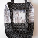 Kotta mintás-fekete alapon fehér pöttyös bevásárló táska/szatyor, Ha környezettudatos vagy és zenebarát, akkor ne...
