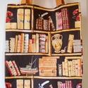 Könyvespolc mintás bevásárló táska/szatyor, Táska, Divat & Szépség, Táska, Válltáska, oldaltáska, Szatyor, Könyvbarátok, könyvtárosok figyelmébe ajánlom ezt a kívül könyvespolc mintás pamutvászon, belül okke..., Meska