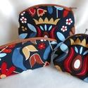 Színes madár-levél-virág mintás neszesszerek + pénztárca, Ezt a 2 db őszies hangulatú dekorvászonból ké...
