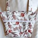 """Pasztell színű tulipános válltáska, Ezt az extra hosszú füllel készült táskát """"c..."""