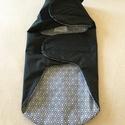 Kutyaruha-esőkabát fekete-mintás béléssel 30 cm, A kutyaruha vízlepergető anyagból készült,fek...