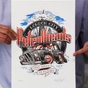 LDN Petrolheads, Képzőművészet, Grafika, Rajz, Illusztráció, Fotó, grafika, rajz, illusztráció, Legfrissebb munkám, limitált szériájú 3 színes (!!!) rizográfia, 100 darab készült belőle.  A nyoma..., Meska