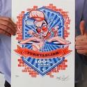 The Kraft, Képzőművészet, Grafika, Rajz, Illusztráció, Fotó, grafika, rajz, illusztráció, Limitált szériájú 2 színes rizográfia, csak 40 darab készült belőle.  A nyomat az alkotó (azaz én :..., Meska