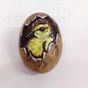 Kacsa Tojás, Otthon, lakberendezés, Dekoráció, Mindenmás, Dísz, Festészet, Festett tárgyak, Megihletett ez különleges tojás formájú kő.Így lett belőle kacsa tojás :) A képen látható kavics 7,..., Meska