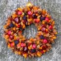 Szedres barnarancs :) - őszi / téli termés-koszorú , Dekoráció, Otthon, lakberendezés, Asztaldísz, Ajtódísz, kopogtató, Mindenmás, Virágkötés, Nem csak ősszel, hanem a karácsonyi ünnepkör után is egész télen aktuális vidám dísz.  A hervadó, d..., Meska