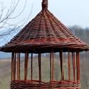 Pagoda madáretető, Állatfelszerelések, Dekoráció, Otthon, lakberendezés, Kerti dísz, Fonás (csuhé, gyékény, stb.), A madáretető hántolatlan fűzfavesszőből készül, a vessző színe mindig változik. A képen látható ete..., Meska