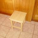 Konyhai ülőke - natúr, Bútor, Szék, fotel, Szabvány konyhai ülőke (45 cm magas, 35 x 35 cm-es ülőlappal). A lábak és a kávák csapozás..., Meska