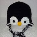 Pingvin sapka, Baba-mama-gyerek, Ruha, divat, cipő, Kendő, sál, sapka, kesztyű, Sapka, Ha nem szeretnéd, hogy fázzon a fejed, de szeretnéd, hogy jó kedve legyen annak is, aki veled sz..., Meska