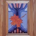 Tűzzománc kép , Képzőművészet, Dekoráció, Kép, A zománc mérete: 150mmx100mm. A keret fa 25mm széles. Teljes mérete:180mmx230mm., Meska