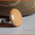 Tűzzománc gyűrű., Ékszer, Gyűrű, Ékszerkészítés, Tűzzománc,   A zománc mérete22mm, nemesacél állítható foglalatban, antiallergén. A zománc pontosan illeszkedik..., Meska