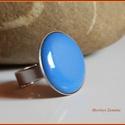 Tűzzománc gyűrű, Ékszer, Gyűrű, Ékszerkészítés, Tűzzománc,   A zománc mérete22mm, nemesacél állítható foglalatban, antiallergén. A zománc pontosan illeszkedik..., Meska