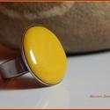 Tűzzománc gyűrű., Ékszer, Gyűrű, Ékszerkészítés, Tűzzománc,  A zománc mérete22mm, nemesacél állítható foglalatban, antiallergén. A zománc pontosan illeszkedik ..., Meska