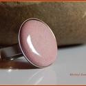 Gyűrű, Ékszer, Gyűrű,  A zománc mérete22mm, nemesacél foglalatban., Meska