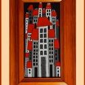 Tűzzománc kép 012, Képzőművészet, Dekoráció, Kép, A zománc mérete: 200mmx100mm. A keret fa 25mm széles. Teljes mérete:280mmx180mm., Meska