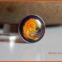 Gyűrű, Ékszer, Gyűrű,  A zománc mérete12mm, nemesacél foglalatban., Meska