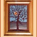 Tűzzománc kép 012, Képzőművészet, Dekoráció, Kép, A zománc mérete: 250mmx200mm. A keret fa 25mm széles. Teljes mérete:330mmx280mm., Meska