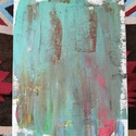 Káosz, Művészet, Festmény, Olajfestmény, Festészet, Festővászonra készített 18X24 cm-es méretben olajfesték felhasználásával készült. A fa állványt hoz..., Meska