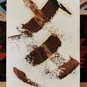 Nonfiguratív, Művészet, Festmény, Olajfestmény, Festészet, Festővászonra készített olajfestmény 18X24 cm-es méretben. A fa tartó állványt a hozzá adom., Meska