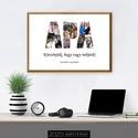 """Kollázs - Apa kép / csodás szép fényképes fotós egyedi személyre szabható dekoráció ajándék ötlet család szeretet, Otthon & Lakás, Dekoráció, Kép & Falikép, Fotó, grafika, rajz, illusztráció, AHOL AZ EMLÉKEID KÉZZELFOGHATÓVÁ VÁLNAK!  Szeretnéd meglepni az apukádat? Ez a csodás """"Apa Kollázs""""..., Meska"""