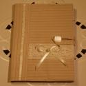 Textil füzetborító (tejeskávé 01.), Naptár, képeslap, album, Jegyzetfüzet, napló, Remek ajándék lehet ez a A/5-ös méretű, 80 lapos spirálfüzetre készült textilborító, melybe tetszés ..., Meska
