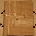 Textil füzetborító (tejeskávé 02.), Naptár, képeslap, album, Jegyzetfüzet, napló, Remek ajándék lehet ez a A/5-ös méretű, 80 lapos spirálfüzetre készült textilborító, melybe tetszés ..., Meska