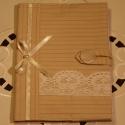 Textil füzetborító, Naptár, képeslap, album, Jegyzetfüzet, napló,  Remek ajándék lehet ez a A/5-ös méretű, 80 lapos spirálfüzetre készült textilborító, melybe tetszés..., Meska