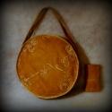 AKCIÓS!!!! Bronzbarna indás körtáska (három változatban) , Táska, Ruha, divat, cipő, Válltáska, oldaltáska, Varrás,  Különleges alkalmakra készítettem ezt a kör alakú táskát, de aki hétköznap is szereti a kihívóbb d..., Meska