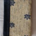 Textil (farmer) füzetborító, Naptár, képeslap, album, Jegyzetfüzet, napló, Varrás, Újrahasznosított alapanyagból készült termékek, Remek ajándék lehet ez a A/5-ös méretű, 80 lapos spirálfüzetre készült textilborító, melybe tetszés..., Meska