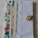 Textil füzetborító (romantika 02), Naptár, képeslap, album, Jegyzetfüzet, napló, Varrás, A romantika jegyében készültek ezek a kifejezetten nőies darabok, ízig-vérig nőknek-hölgyeknek és k..., Meska