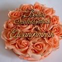 Örök virágbox, Otthon, lakberendezés, Dekoráció, Asztaldísz, Csokor, A romantikus kerek kézműves  virágboxot, élethű,örök  barack  habrózsákkal raktam körbe. A virágboxo..., Meska