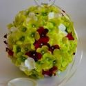 Hortenzia dekorációs gömb, Esküvő, Dekoráció, Esküvői csokor, Esküvői dekoráció, Különböző méretű selyem romantikus  hortenzia fejes dísz gömb dekoráció. Bárhonnan lelóg..., Meska