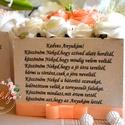Szülőköszöntő fa ládikó, Esküvő, Otthon & lakás, Esküvői csokor, Meghívó, ültetőkártya, köszönőajándék, Decoupage, transzfer és szalvétatechnika, Virágkötés, Vintage fa ládikó,egyedi szívhez szóló üzenettel. Szatén szalag díszítéssel. Kérhető más idézettel ..., Meska