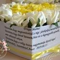 Mama virágbox, Esküvő, Otthon & lakás, Meghívó, ültetőkártya, köszönőajándék, Lakberendezés, Decoupage, transzfer és szalvétatechnika, Virágkötés, Szöveges egyedi üzenettel kérhető szív virágbox. Élethű habrózsákkal. Átmérője:23 cm,magassága:14 cm, Meska