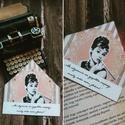 Audrey, az örök nő - könyvjelző, Francia hangulat, elegancia, nőiesség, Audrey He...