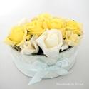 Virágdoboz sárga rózsákkal, Köszönetet mondani, a hálánkat kifejezni bárm...
